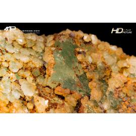 Fluorite verde con quarzo Ialino
