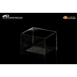 Box rettangolare trasparente fondo nero tipo museo -3