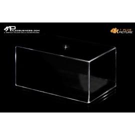 Box rettangolare trasparente fondo nero tipo museo -5