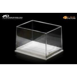 Box rettangolare trasparente fondo bianco tipo museo -2