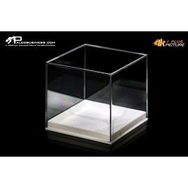 Box quadrato trasparente fondo bianco tipo museo -4